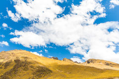 Road Cusco- Puno, Peru,South America. Sacred Valley of the Incas. Spectacular  nature of mountains and  sky Stock Photo