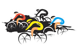 Road Cycling Competitors. Stock Photos