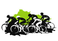 Road cycling racers. Stock Photo