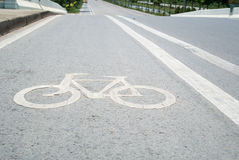 Road cycling. Traffic lanes for bicycles or exercise Stock Photos