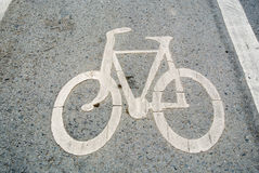 Road cycling. Traffic lanes for bicycles or exercise Royalty Free Stock Photos