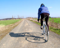 Road cyclist. A male cyclist riding a bike Stock Photo