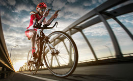 Road cyclist. Sport background. Road cyclist. Triathlon royalty free stock images