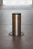 Road cylinder obstacle Royalty Free Stock Photos