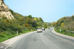 Road in Cyprus Royalty Free Stock Photo