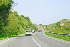 Road in Cyprus Royalty Free Stock Photography