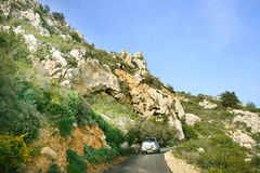 Road in Cyprus. Royalty Free Stock Photos