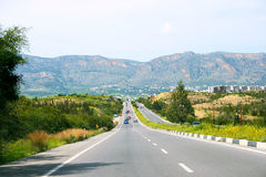 Road in Cyprus Stock Photography