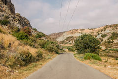 Road in Cyprus Royalty Free Stock Photos