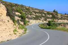 Road in Cyprus Stock Photo