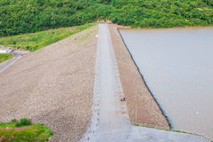 The road on the dam holds the water Stock Images