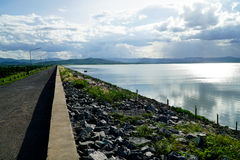 Road and Dam Stock Image