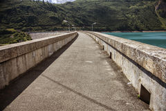 Road on the dam Royalty Free Stock Photography