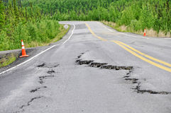 Road damage Stock Image
