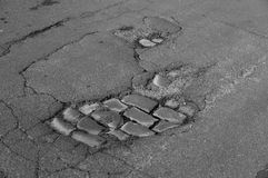 Road damage Royalty Free Stock Photos