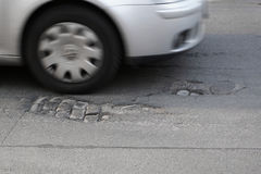 Road damage Royalty Free Stock Photography
