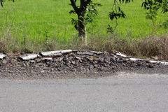 Road damage Stock Images