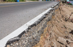 Road damaged Royalty Free Stock Photography
