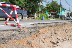 Road damaged Stock Photography