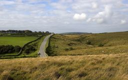 Road through Dartmoor,Devon Royalty Free Stock Photos