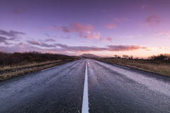 Road at dawn Royalty Free Stock Photos