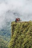 Road of death Bolivia viewpoint Stock Image