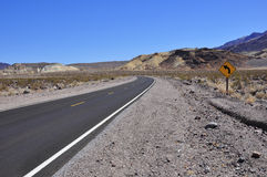 Road in Death Valley Royalty Free Stock Photo