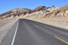 Road in Death Valley. National Park, turning left Stock Photo