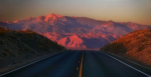 Road from Death valley stock photography
