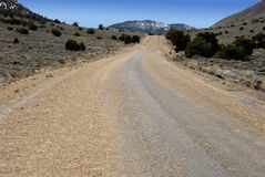 Road through Death Valley Stock Image
