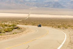The road through the Death valley Stock Photo