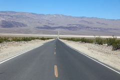 Road through Death Valley Stock Images
