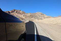 Road through Death Valley National Park Stock Photography