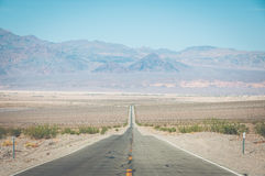 Road in Death Valley National Park, California, USA stock photo