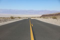 Road through Death Valley National Park. California Royalty Free Stock Photography