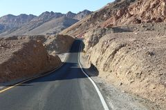 Road through Death Valley National Park. California Royalty Free Stock Images