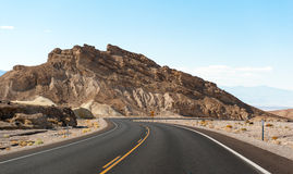 The road in death valley Stock Photo
