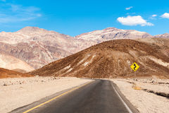 The road in death valley Royalty Free Stock Photo