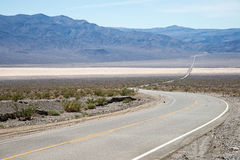 The road through the Death valley Royalty Free Stock Photo