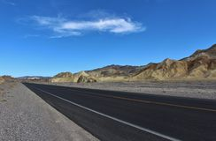 The road through Death Valley in USA Stock Image