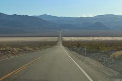 The road through Death Valley in USA Stock Images