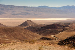 Road into Death Valley Royalty Free Stock Images
