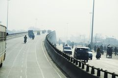Road in Delhi city Royalty Free Stock Photo