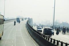 Road in Delhi city Royalty Free Stock Photo
