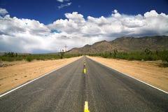 Road through desert Stock Photo
