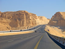 Road in desert Stock Photo
