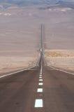 Road in the desert. Road in the Atacama desert, Chile Stock Photos