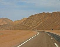 Road in desert Royalty Free Stock Image
