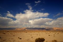 Road in the desert. At the border of Israel and Jordan Stock Photo