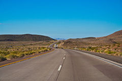 Road in the desert Royalty Free Stock Photo